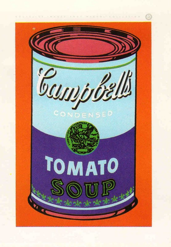 Colored Cambells Soup Can